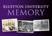 Bluffton University Memory graphic