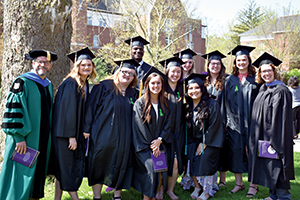 2019 social work graduates with Dr. Walt Paquin and Heidi Mercer