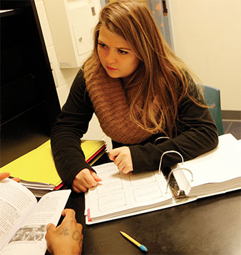 Claire DeOrio working at JDC