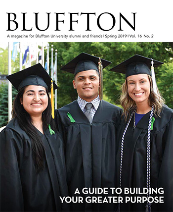 Bluffton magazine cover, spring 2019