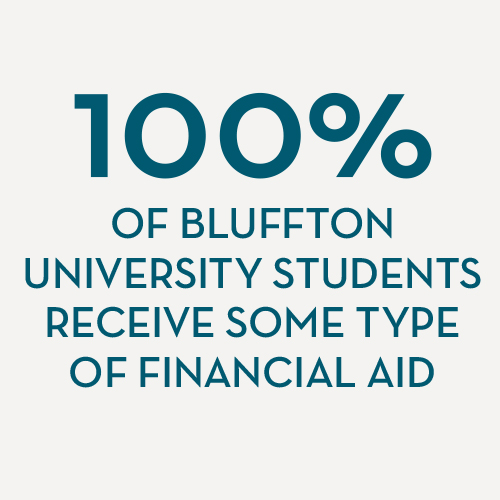 100 percent of Bluffton students receive aid