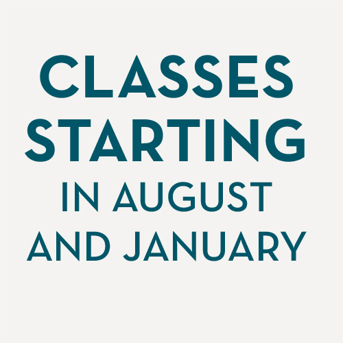 Classes begin in January and August