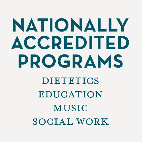 Nationally accredited departments