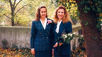 Kathryn and Kirsten in 1994