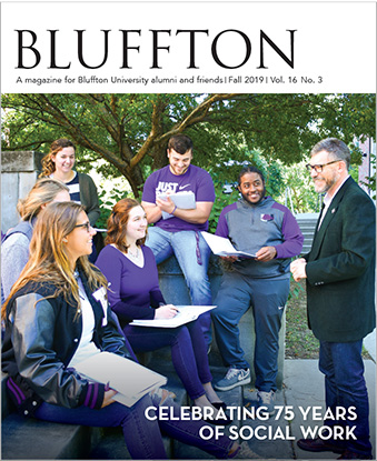 Bluffton magazine cover, fall 2019