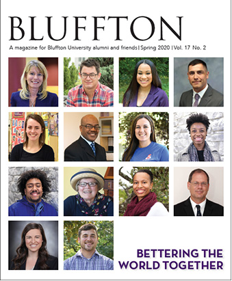 Bluffton magazine cover, spring 2020