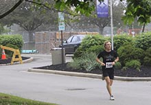 Andy Chaffee nears the finish line