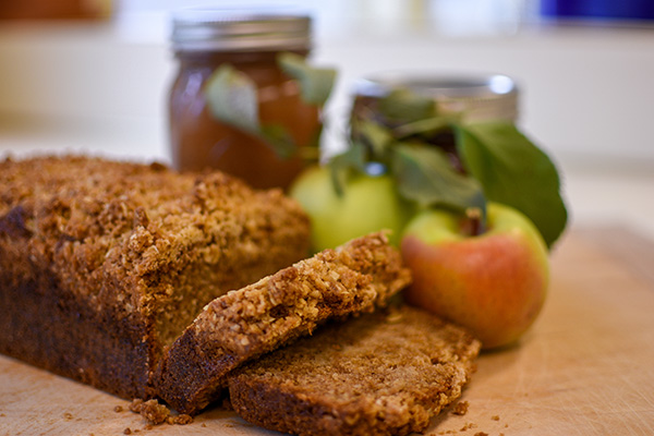 Applesauce Oatmeal Cinnamon bread features applesauce produced in-house from apples picked at Sugar Creek Orchard, Lima.