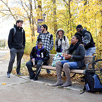 Fall_student on bench 2018