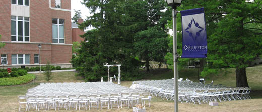 Wedding on Centennial Lawn