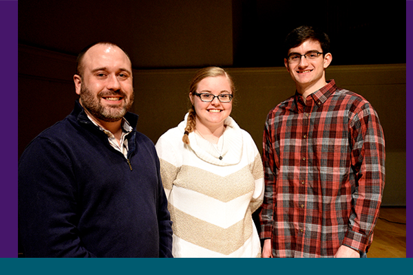 Dan Metzger '05, Amy Marshall '22 and Spencer Garrison '22