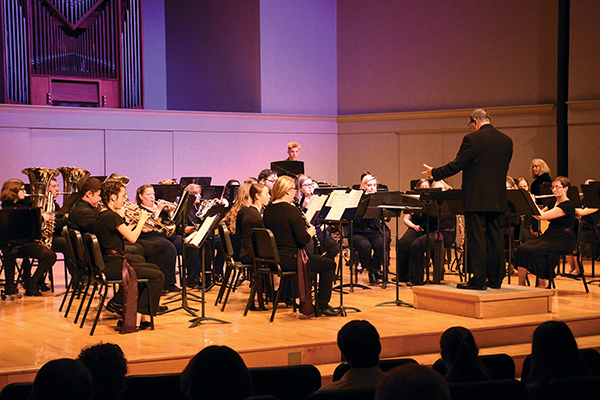 Bluffton University's concert band