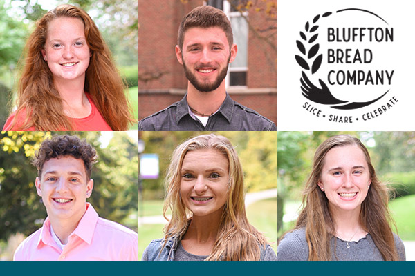 Bluffton Bread Company spring 2021 student interns: (top row) Haley Gill and Justin Dorsey. (bottom row) Jeremy Locklear, Kylee Tiziani and Liz Deal.