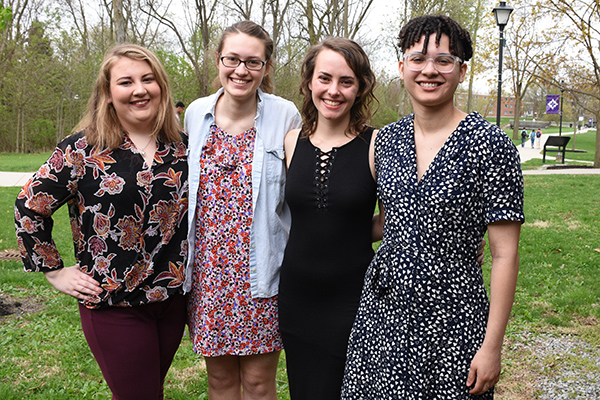 Five seniors received departmental honors for independent study projects.