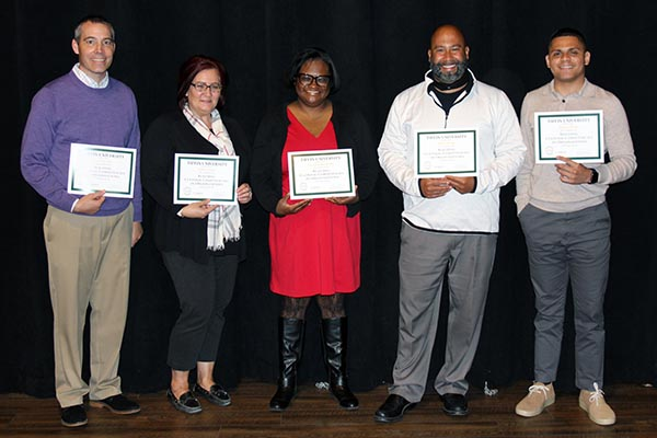Five faculty and staff members completed the Building Cultural Competencies within Organizations certification program