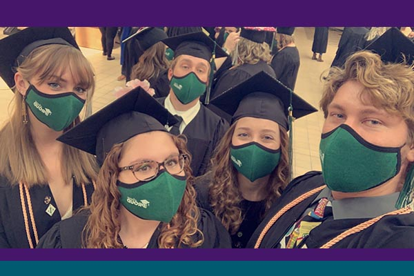 Five nursing students graduated from Northwest State Community College and are ready to begin BSN courses at Bluffton.