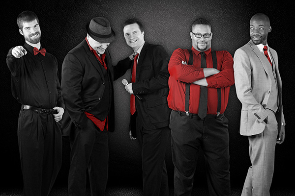 Ball in the House, a high energy a cappella group performs R&B, soul and pop hits.