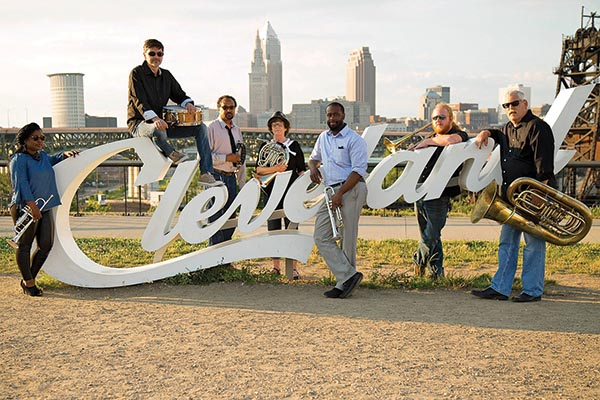 Cleveland Brass Works plays an eclectic mixture of jazz, rock, funk, Latin and swing pieces.