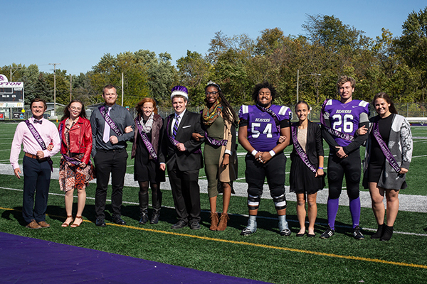 2019 Bluffton University homecoming court