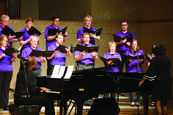 Under the direction of Dr. Crystal Sellers Battle, the gospel choir is now in its 10th year at Bluffton.