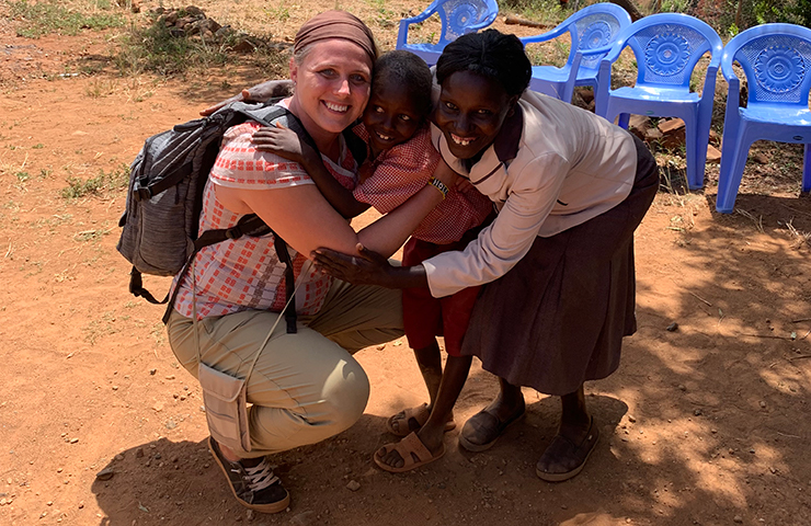 Holly Metzger meets her World Vision sponsor child Nathan and his mother Evelyn.
