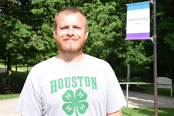 Social work major Andrew Sluss interned at CASA of Allen and Putnam Counties.