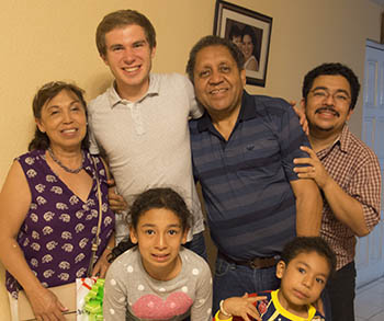 Blake Hershberger and his Guatemalan family