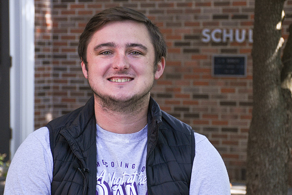 Evan Burden, junior music education major